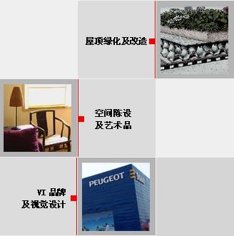 室内装修 环境标识标牌 公共艺术及屋顶绿化 室内陈设的专业